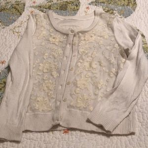 Girls size (xs) Abercrombie Kids lace front cardi